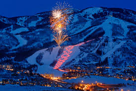 Steamboat Springs at night